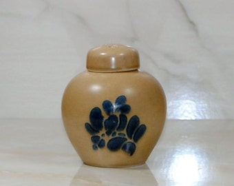 Vintage Pfaltzgraff FOLK ART Potpourri Jar With Lid, Ginger Jar,1980, Stoneware Jar, Incense Holder, Potpourri Holder, Ironstone, Scent Jar