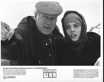 Vintage Photograph Lara Harris in The Fourth War 1990, 8x10 Black & White Promotional Photo, Movie Star Photograph