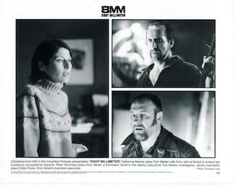 Vintage Photograph James Gandolfini, Catherine Keener and Peter Stor in 8 Millimeter 1999, 8x10 Black & White Promotional Photo