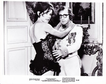 Vintage Photograph, Woody Allen and Diane Keaton in Love and Death 1975, 8x10 Black & White Promotional Photo