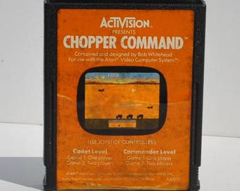Vintage Atari 2600 Game Chopper Command, 1982