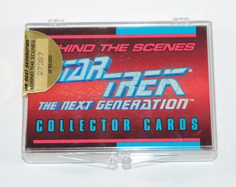 Vintage Star Trek The Next Generation Behind the Scenes Collector Skybox Trading Cards 1993