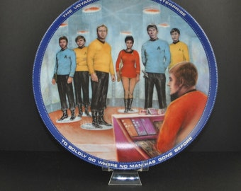 Vintage Star Trek Beam Us Down Scotty Plate, Hamilton Collection 1983, Star Trek The Original Series