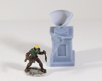D&D RPG Minis 28 mm Greek Garden Damaged Greek Monument
