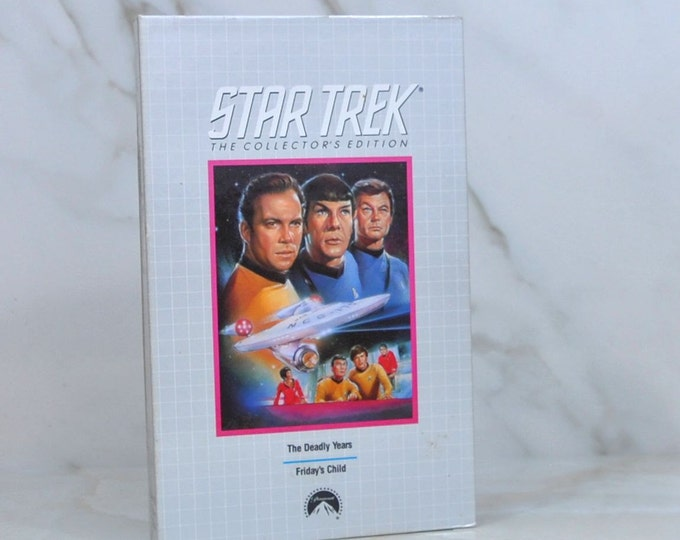 Vintage VHS Tape 1991 Columbia House Video Star Trek The Collector's Edition The Deadly Years & Friday's Child - Enterprise - Captain Kirk