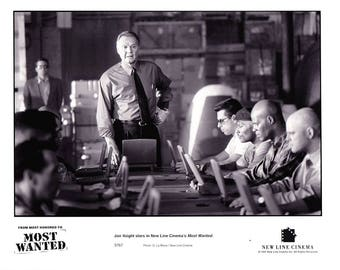 Vintage Photograph, Keenen Ivory Wayans, Jon Voight, Most Wanted 1997, Black and White, Hollywood Décor, Movie Advertisement, Movie Photo