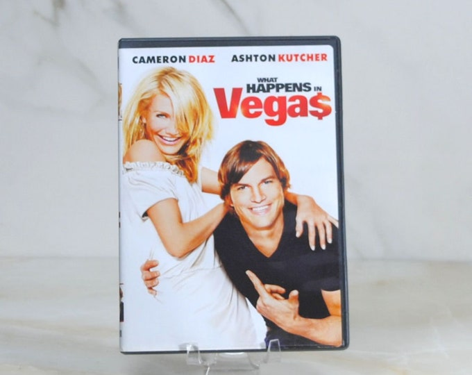 What Happens In Vegas DVD, 2008 comedy/romance movie starring Cameron Diaz, Ashton Kutcher, Rob Corddry and Jason Sudeikis.