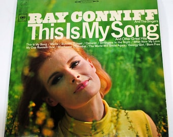 Vintage This Is My Song Ray Conniff Album 33 1/3 Record 360 Degree Sound, Columbia Records, Invisible Tears, Mary Poppins, Sunrise Sunset
