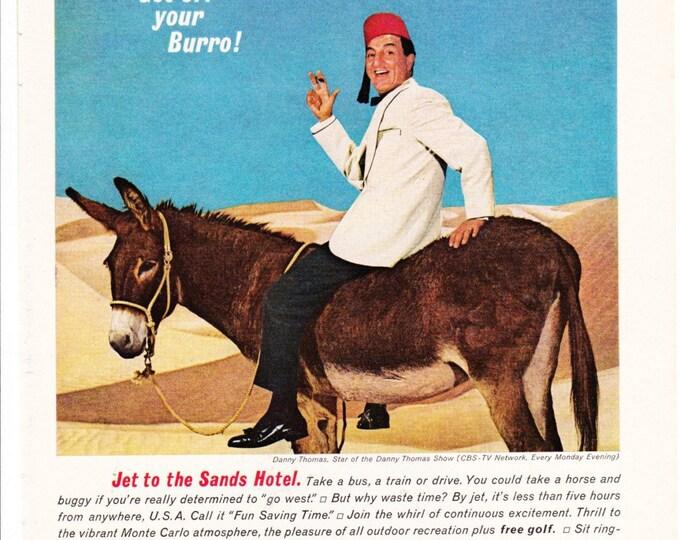 Vintage Original Magazine Print Art, Print Advertisement Sands 1964 Danny Thomas