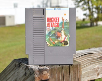Vintage Nintendo Game Racket Attack Jaleco 1987, NES, Video Game, Console Game, Vintage Game, Vintage Nintendo, Vintage NES, Tennis, Sports