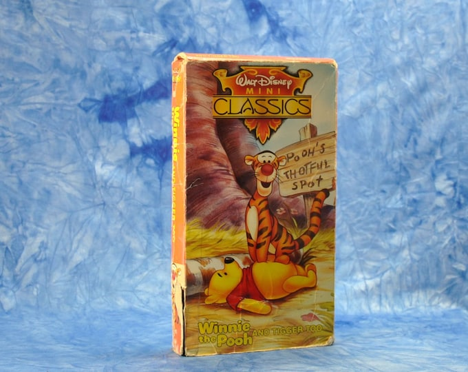 Vintage VHS Tape Winnie The Pooh And Tigger Too 1992 Walt Disney MINI Classics - Animation - Hundred Acre Woods - Rabbit