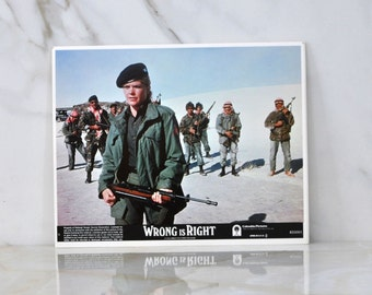 Vintage The Movie Wrong Is Right 8x10 Color Lobbycard,1982, Sean Connery, News Reporting, Covert Agencies, Nuclear Weapons, Newsman, TV