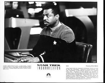 Vintage Star Trek Photograph Lavar Burton as Lt Cmdr Georgi La Forge, Black and White, Insurrection, 1998