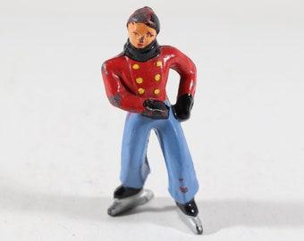 Johillco Lead Figure, Man Skating on Ice, 1950s