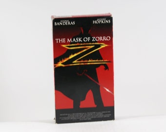 Vintage VHS Tape The Mask Of Zorro Banderas Hopkins Tri Star Pictures 1998 137 Minutes