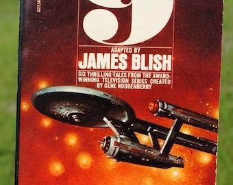 Vintage Star Trek Book, Star Trek No 9 By James Blish, 1975, Paperback