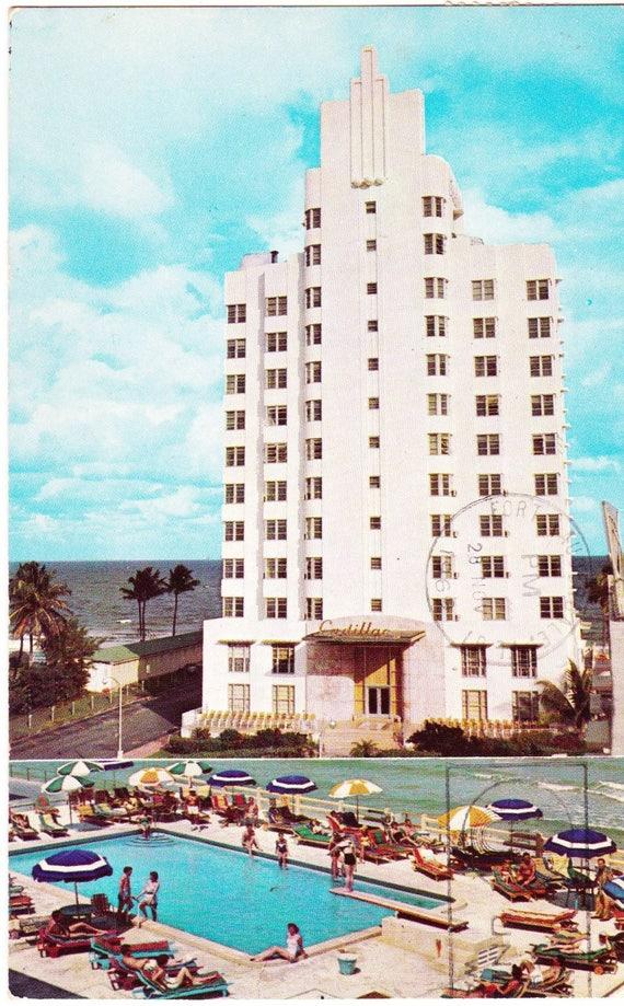 Vintage Post Card 1960s Cadillac Hotel 40th Street Miami Etsy