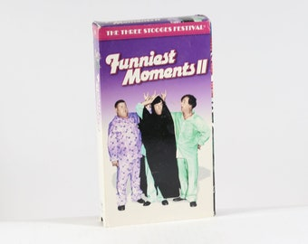Vintage VHS Tape The Three Stooges Funniest Moments II Goodtimes Video 107 Minutes 2000