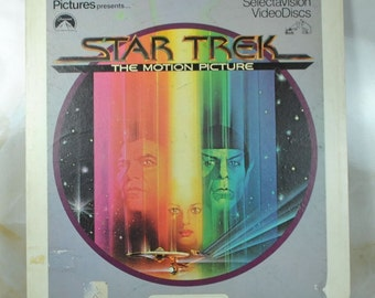 Vintage Star Trek The Motion Picture VideoDisk By RCA SelectaVision 1979 - Paramount Pictures 2 Disks - Laser Disk - Analog - USS Enterprise