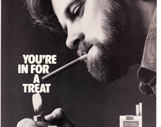 Vintage Original Magazine Print Art, Print Advertisement, Wall Art, Wall Decor, Man Room, Smoking Advertisement, Dutch Treats, Tobacco