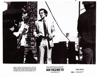 Vintage Photograph, Tony Lo Bianco, God Told Me To, 1976, 8x10 Black White