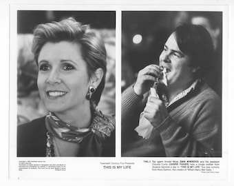 Vintage Photograph Carrie Fisher and Dan Aykroyd in This Is My Life, 1992, 8x10 Black & White