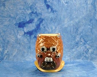 Vintage Star Wars Ceramic Figural Mug Tusken Raider 1990s Shadow Of The Empire, Applause Mug
