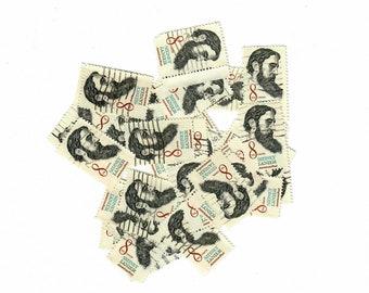 Vintage Canceled Postage Stamps Sidney Lanier 1972, 35 8 Cent Stamps, Scott 1446