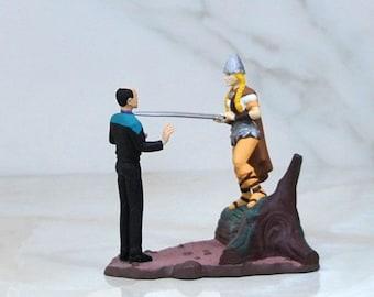 Vintage Star Trek Voyager Doctor Miniature Collectible Diorama