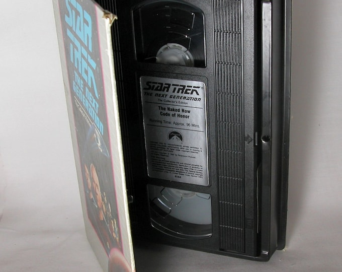 Vintage Star Trek VHS Video The Next Generation The Naked Now - Code Of Honor #8184, 1990