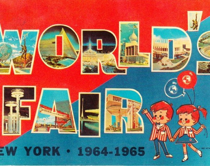 Vintage Postcard The World's Fair 1964-1965 New York City Peace Through Understanding, Dexter Press, Unisphere, Expo, BIE, Exehibition
