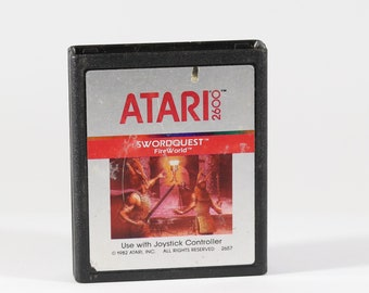 Vintage Swordquest Fireworld, Atari 2600, Atari Game, 1982