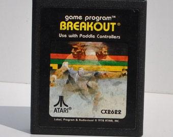 Vintage Atari 2600 Game, Atari Game, Atari Console, Cartridge, Atari Cartridge, Atari Computer, Atari Games, Breakout, 1978, Video Games