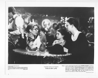 Vintage Photograph, Carrie Fisher in This Is My Life, 1992, 8x10 Black & White Promotional Photo