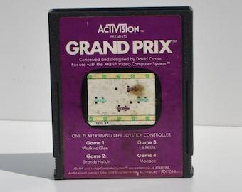 Atari 2600 Grand Prix Game From Activision 1982