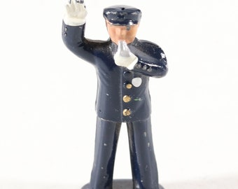 Vintage Barclay Manoil Lead Figure, Policeman Stopping Traffic, Made in the England 1950s