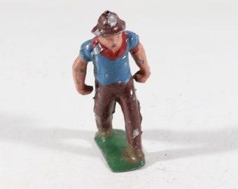 Vintage Lead Figure, Railroad Worker, 1950s France