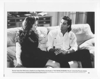 Vintage Photograph, Ken Wahl The Taking Of Beverly Hills 1991, 8x10 Black White Promotional Photo