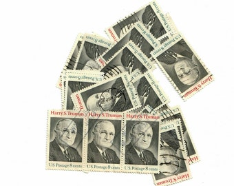 Vintage Canceled Postage Stamps Harry S. Truman 1973, 23 8 Cent Stamps, Scott 1499
