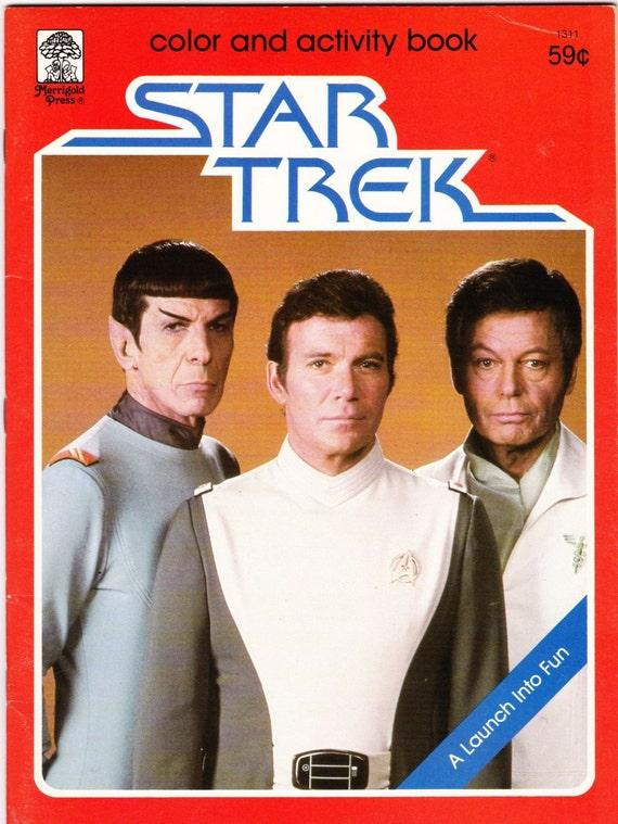 RARE VINTAGE STAR TREK COLOR AND ACTIVITY BOOK ENTERPRISE 1979 UNUSED