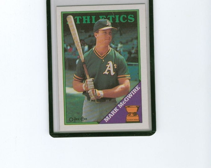 Vintage 1988 Mark McGwire 394 1st Base Athletics O-Pee-Chee Baseball Card
