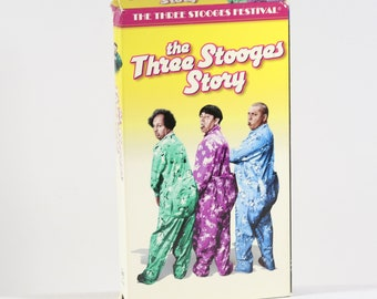Vintage VHS Tape The Three Stooges Story Goodtimes Video 107 Minutes 2000