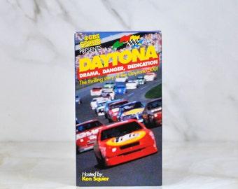Vintage Daytona Host Ken Squier VHS Tape 1992 - CBS Sports - CBS Video - Nascar - Racing - Race Cars - Daytona 500 - Daytona Beach - Racing