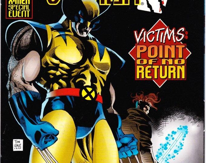 Vintage Wolverine Gambit Victims Comic Book Volume 1 Number 4 December 1995 Marvel Comic - Point Of No Return - Arcade - Mastermind - Logan