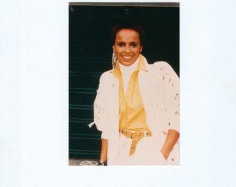 Vintage Photograph, Shari Belafonte 4x6 Color Movie Star Photo