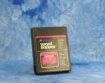 Vintage Atari 2600 Word Zapper Game From U.S. Games 1982 Video Game - Words - Letters - Puzzle - Asteroids - Ship - Shooter - Collection