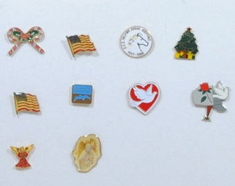 Vintage Metal Pins, Plastic Pins, Mixed Lot, 10 Pins, Crafting, Steampunk, Hat Pins, American Flag, Shrine Hospital, winterparkcollect