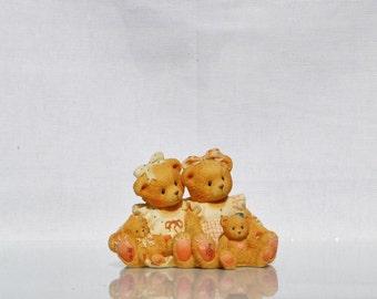 Vintage Cherished Teddies, Allison and Alexandria 1995, Priscilla Hillman Enesco Figurine