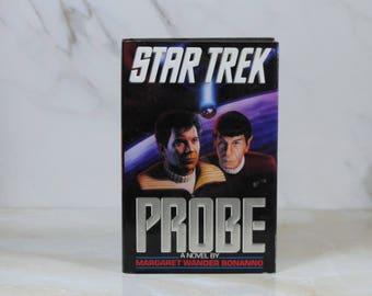 Vintage Probe, Hard Back, Book, Star Trek, 1992, Margaret Wander Bonanno, Hardback, USS Enterprise, Star Trek IV, Captain Kirk, Mr Spock