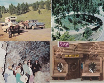 Vintage Postcard Bundle 4 Cards 1960's South Dakota